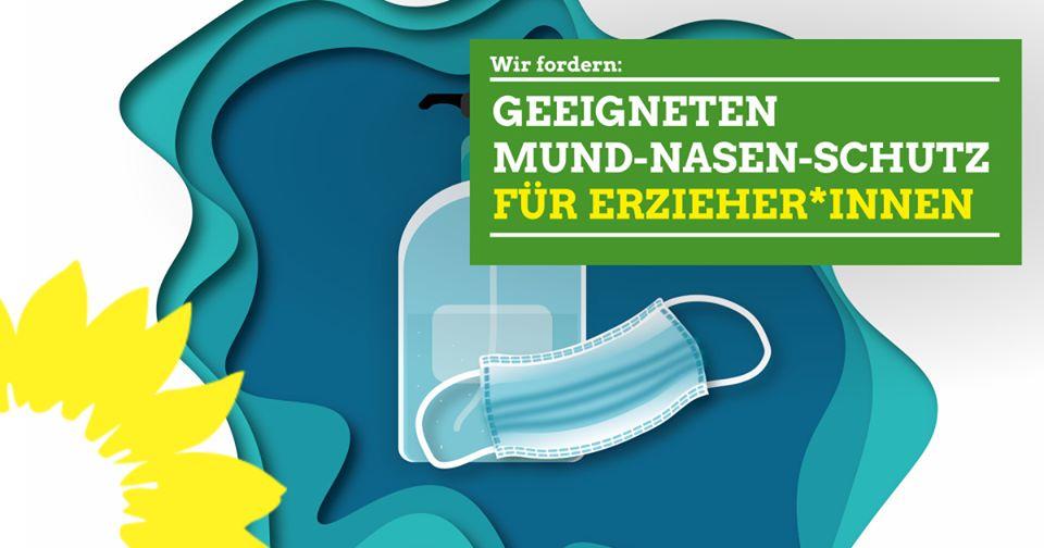 12.06.2020 – Wir fordern: Geeigneten Mund-Nase-Schutz für Erzieher*innen