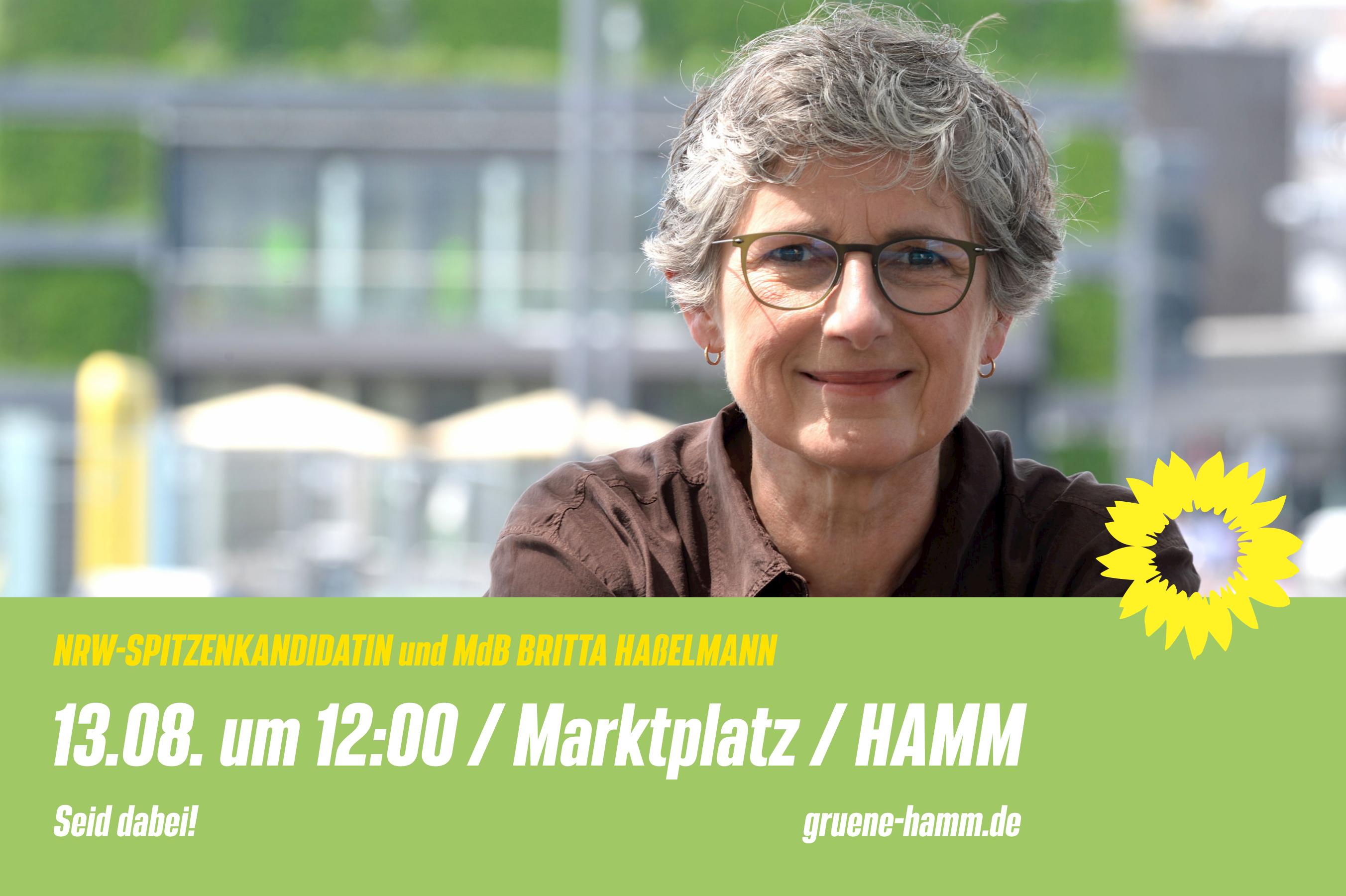 Britta Haßelmann kommt nach Hamm!
